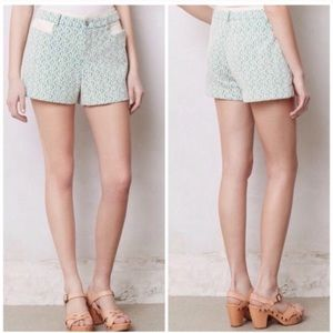 Anthropologie Cartonnier Rose Point Lace Shorts
